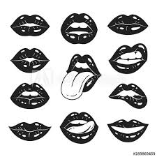 lips collection vector ilration of
