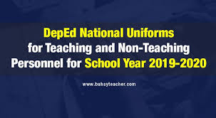 deped national uniforms for teaching