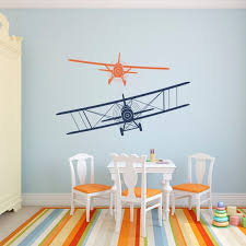 Set Of 2 Airplanes Vinyl Wall Decals For Kids Boys Room Etsy