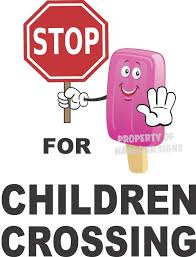 Stop For Children Crossing Vinyl Decal 14 Concession Ice Cream Food Truck Cart Harboursigns Truck Stickers Vinyl Decals Food Truck