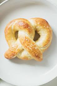 homemade soft pretzels well floured