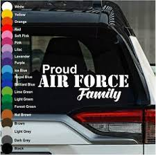 Proud Air Force Family Car Decal Vinyl Sticker For Laptop Walls Windows Computer Ebay