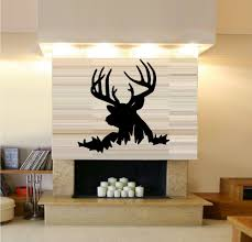Fashion Deer Head Vinyl Wall Decal African Animal Buck Deertribal Mural Wall Sticker Home Decoration Wall Sticker For Bedroom African Home Decor Olivia Decor Decor For Your Home And Office