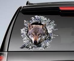 Wolf Window Sticker Car Sticker Wolf Car Decal Etsy