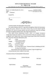 Doc Contoh Surat Undangan Pengajian Febriana Rhdynsyh Academia Edu
