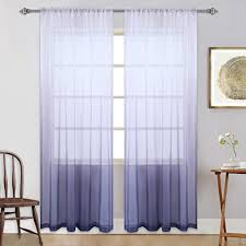 Amazon Com Light Purple Girls Bedroom Curtains Semi Sheer Ombre Window Curtain Gradient Voiles Panels For Princess Teenage Girls Kids Room Closet Living Room Nursery Set Of 2 Panels 84 Inches Lavender Home Kitchen