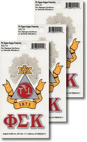 Phi Sigma Kappa Decals Fraternity Crest