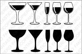 free red white wine glasses svg files