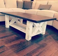 chunky farmhouse coffee table with