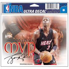 Dwyane Wade Mvp Miami Heat 5x6 Car Window Ultra Color Decal New For Sale Online