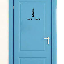 Yoja 21 21cm Unicorn Horn Eyelashes Personality Decor Wall Sticker Door Art Decal Black A40358 Wall Stickers Aliexpress