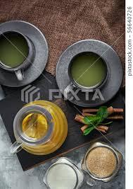 transpa glass teapot with chitrus
