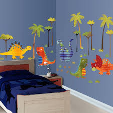 Toddler Room Decorated With Dinosaur Decals Kid Room Decor Kids Room Inspiration Toddler Room Design Ideas