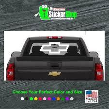 Chevy Bowtie Rear Window Vinyl Decal Stickers Sticker Flare Llc