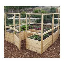 Square Raised Garden With Deer Fence Kit Mk Library