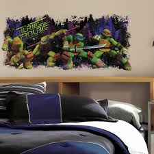 Teenage Mutant Ninja Turtles Turtle Trouble Giant Wall Decal Roommates Decor
