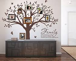 Amazon Com Lskoo Large Family Photo Tree Wall Decal With Family Like Branches On A Tree Wall Decals Wall Sticks Wall Decorations For Living Room Brown Home Kitchen