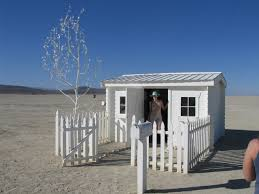 A Small Home With Picket Fence Out In The Deep Desert Complete With Mailbox Full Of Gifts Brad S Photos