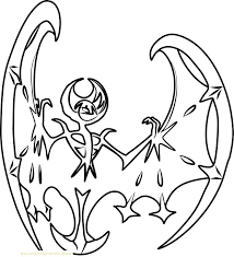 Lunala Pokemon Coloring Pages Sun And Moon