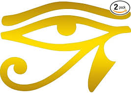 Amazon Com Egyptian Hieroglyphic Eye Of Horus Comic Metallic Gold Set Of 2 Premium Waterproof Vinyl Decal Stickers For Laptop Phone Accessory Helmet Car Window Bumper Mug Tuber Cup Door Wall Decoration Automotive