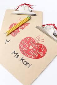 Craft Diy Vinyl Clipboard Teacher Gift Idea See Vanessa Craft