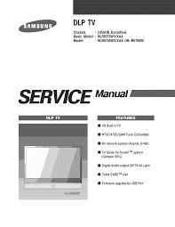 SAMSUNG DLP Television Manual L0902265