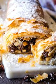 apple strudel with phyllo dough the