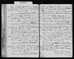 Marriage record of Polly Anderson and David Walbert