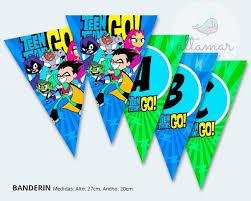 Kit Imprimible Jovenes Titanes Teen Titans Go Cumpleanos 2x1 S