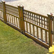 Parkland Plastic Fence Panels Garden Lawn Edging Plant Border Landscape Pack Of 4 Bronze Amazon Co Uk Garden Outdoors