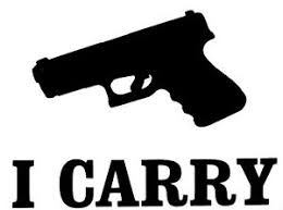 I Carry Decal Window Sticker Car Quad Truck Hunting Gun Outdoor Vinyl Decal Ebay