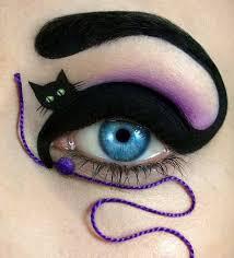 black cat eye makeup idea