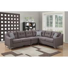 mid century modern sectional sofa gray