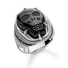 thomas sabo rebel obsidian skull