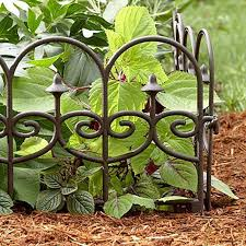 Wrought Iron Split Rail Fencing Wire Fence Edging Yard Composite Material Plastic Garden Designs Decorati Decorative Garden Fencing Garden Borders Fence Design