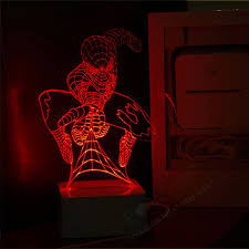 Free Shipping Marvel Superhero Spider Man 3d Night Light Micro Usb Led Lamp Kids Room Art Deco Lamp Birthday Fantastic Gift Light Bulbs For Touch Lamps Light Blimplight Therapy For Eczema Aliexpress