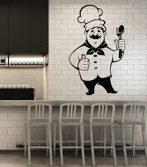 Vinyl Wall Decal Chef Cooking Restaurant Menu Food Hat Cutlery Kitchen Wallstickers4you