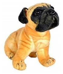 kdg stuffed soft pug voda dog toy pug
