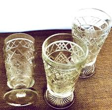 vintage art deco clear depression glass