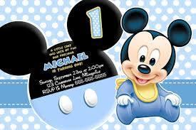 Invitacion Invitaciones De Cumpleanos De Mickey Mouse