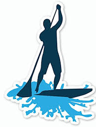 Stand Up Paddle Board Sup Decal Sticker Large Blue By Nalu Accessories Paddleboard Surfboard Paddleboarding Surfing Beach Ocean Fitness Rash Guards Shirts Sunglasses Hats Athletic Sports Gear Sup Footwear Leashes