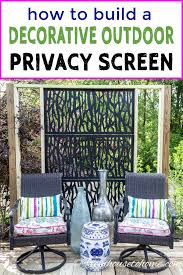 Diy Outdoor Privacy Screen How To Build A Decorative Screen For Your Garden Gardening From House To Home