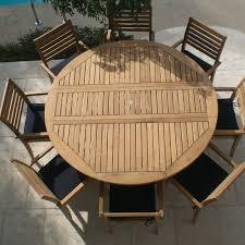 teak round drop leaf patio dining table