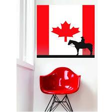 Custom Wall Decal Sticker Cowboy Silhouette In Canadian Flag Canada Maple Leaf 20x20 Inches Walmart Com Walmart Com