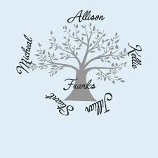 Family Names On Tree Vinyl Wall Decal Jack And Jill Boutique