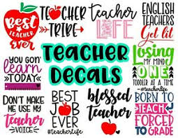Page Of Teacher Quote Decal Stickers With Funny Sayings For Car Notebook Cup Ebay