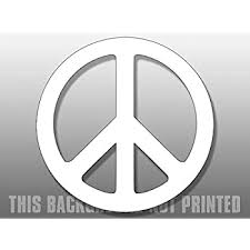 Amazon Com White Peace Sign Symbol Sticker Logo Vinyl Decal Automotive