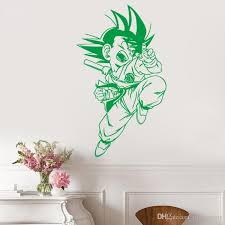 Manga Anime Wall Sticker Son Goku Vinyl Decal Japanese Home Interior Bedroom Decor Art Mural Door Sticker Housewares 33 56 56 102 Cm Kid Wall Stickers Kids Bedroom Wall Stickers From Joystickers 8 96 Dhgate Com