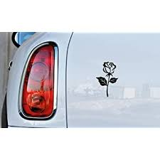 Amazon Com Flower Rose Version 9 Car Vinyl Sticker Decal Bumper Sticker For Auto Cars Trucks Windshield Custom Walls Windows Ipad Macbook Laptop And More Black Automotive