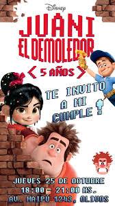Tarjetas De Cumpleanos Ralph El Demoledor Disney Infantiles